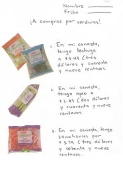 Spanish: A compras por verduras