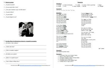 Español: Canción: Vivir mi Vida por Marc Anthony. Ir a + infinitivo.
