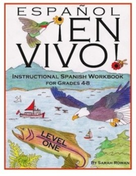 Español En Vivo Level 1 Instructional Spanish Workbook for Grades 4-8