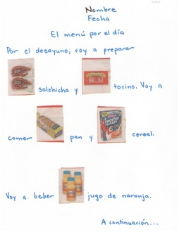 Spanish: Foods in a Rebus Story