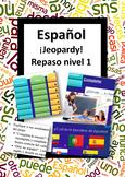 Español: Juego de repaso nivel 1. (Spanish: level 1 review