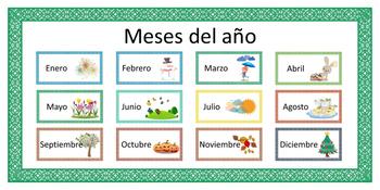spanish espa ol meses del a o by sil teachers pay teachers. Black Bedroom Furniture Sets. Home Design Ideas