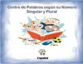 Espanol: Palabras en Singular y Plural (segun su Numero) en un Centro de Act.