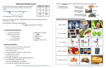 Español: Pronombres de Objeto Directo (Spanish: Direct Object Pronouns Bundle)