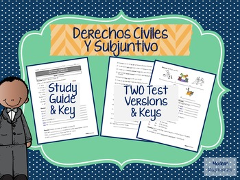 Español Spanish Black History Month Civil Rights MLK STUDY GUIDE TEST