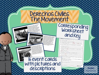 Español Spanish Black History Month Civil Rights MOVEMENT CARDS