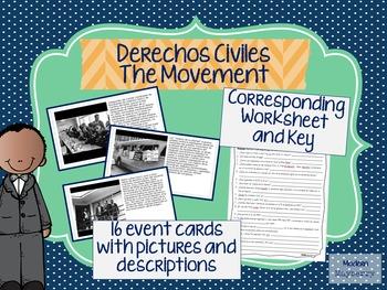 Español Spanish Black History Month Civil Rights MOVEMENT CARDS