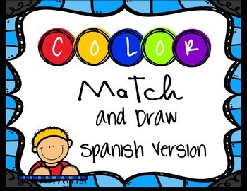 Espanol / Spanish Color Match and Draw