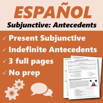 Español: Subjuntivo con antecedentes indefinidos 1 (Subjunctive)