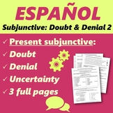 Español: Subjuntivo: negación, duda e incertidumbre 2 (Pre