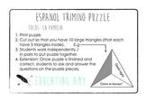 Espanol Trimino Puzzle - La Familia