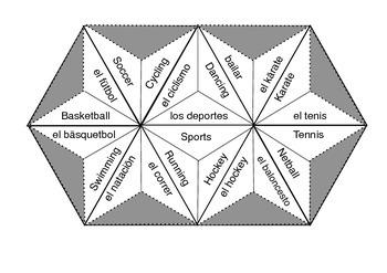 Espanol Trimino Puzzle - Los deportes