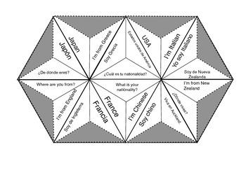 Espanol Trimino Puzzle - Paises y Nacionalidades