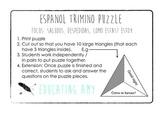 Espanol Trimino Puzzle - Saludos / Despedidas
