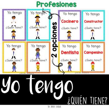 Español Yo tengo quién tiene {Profesiones} I have who has