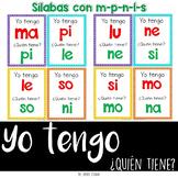 Español Yo tengo quién tiene {Sílabas con m, p, l, s, n} I