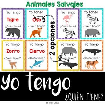 Español Yo tengo quién tiene {animales salvajes} I have who has