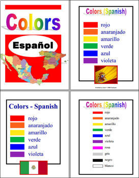 Espanol colores ~ Colors in Spanish (Posters, Word Wall, Flashcards, Puzzle)