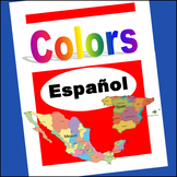 Espanol colores ~ Colors in Spanish (Posters, Word Wall, F