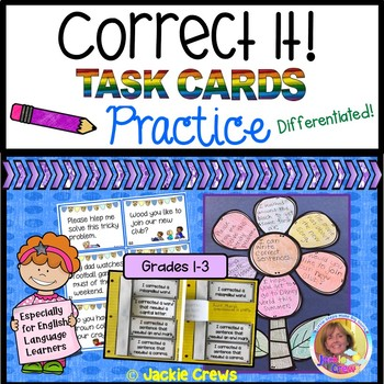 Especially for ESL:  Correct It! Task Cards & Practice