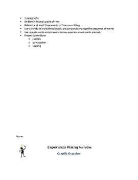 Esperaniza Rising Narrative Prompt: W.3