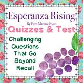 Esperanza Rising: 70+pages CC-Aligned Quizzes/Assessments