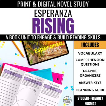 Esperanza Rising Foldable Novel Study Unit