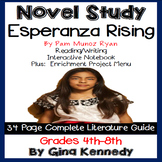 Esperanza Rising Novel Study & Enrichment Project Menu