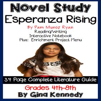 Esperanza Rising Novel Study & Enrichment Project Menu