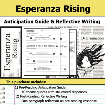 Esperanza Rising Unit Bundle