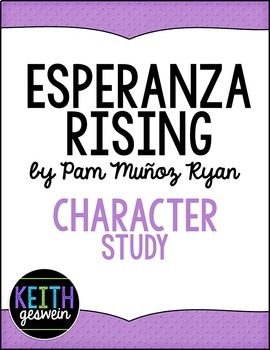 Esperanza Rising: 7 Character Analysis Activities