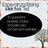 Esperanza Rising Test (Editable!)