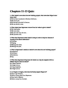 Esperanza Rising CH 11-13 Quiz