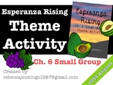 Esperanza Rising Ch. 6 Small Group Theme Activity