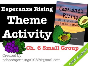 Esperanza Rising Ch. 6 Small Group Theme Activity
