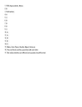 Esperanza Rising Chapter 1 Quiz; Figurative Language