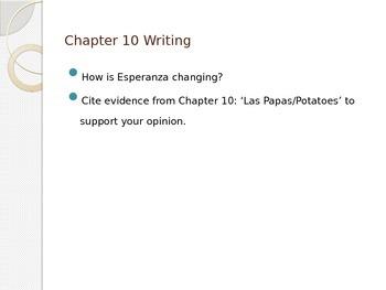Esperanza Rising Chapter 10 Writing Prompts