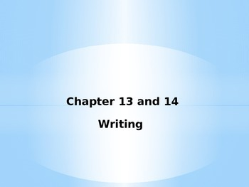 Esperanza Rising Chapter 13 and 14 Writing