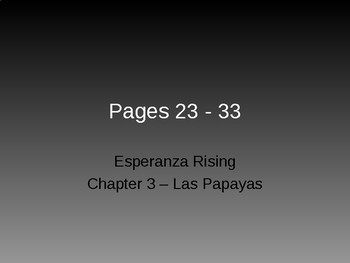 Esperanza Rising - Chapter 2
