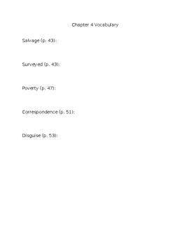 Esperanza Rising Chapter 4 Vocabulary