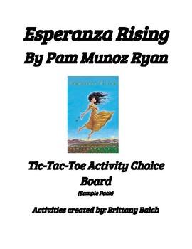 Esperanza Rising Chapters 1-5 Activity Tic-Tac-Toe Board