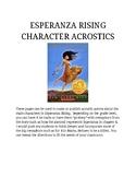 Esperanza Rising Character Acrostics