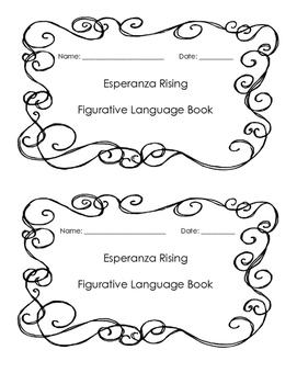 Esperanza Rising - Character Traits/Figurative Language Book