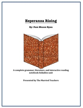 Esperanza Rising Complete Literature, Grammar, & Interactive Foldables Unit