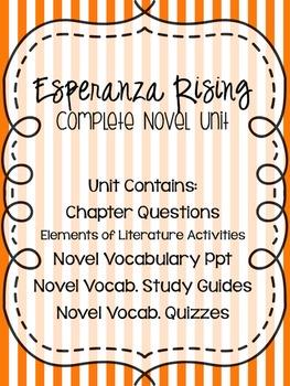 Esperanza Rising - Complete Novel Study Unit