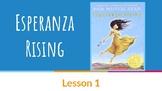 Esperanza Rising EngageNY Unit - Slidedeck - Lessons 1-7