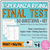 Esperanza Rising | Final Test | Assessment
