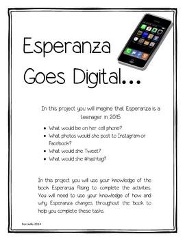 Esperanza Rising Goes Digital - Character Change Project