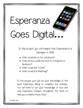 Esperanza Rising Goes Digital - Character Change Project