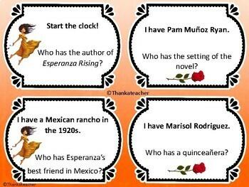 Esperanza Rising: I Have...Who Has? GAME